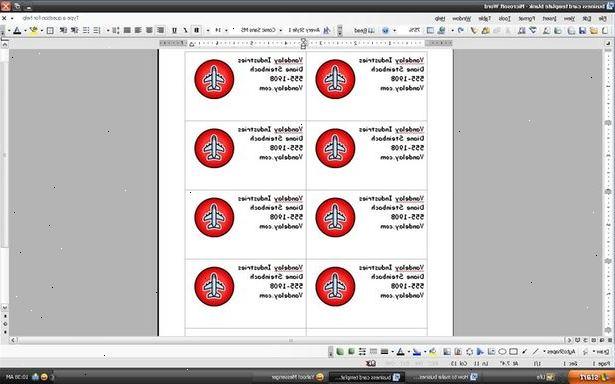 Hvordan Laver Visitkort I Microsoft Word Wkudk